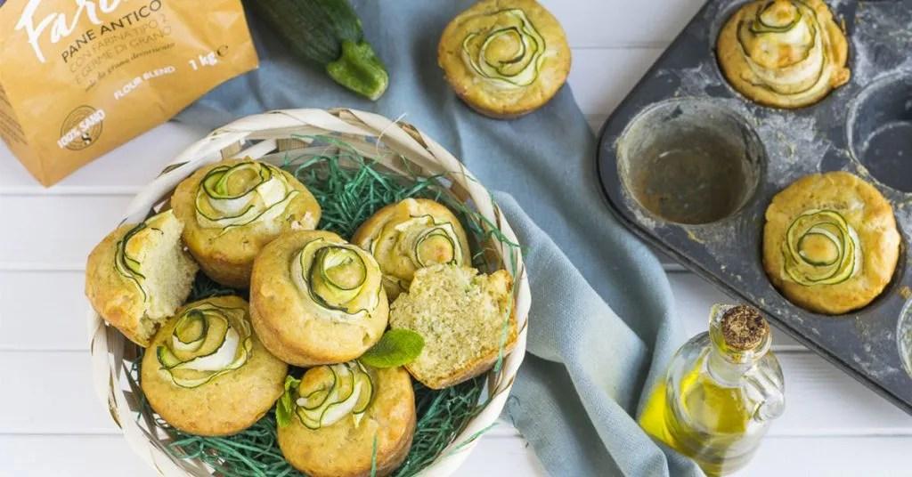 Muffin Con Rose Di Zucchine E Provola