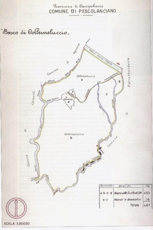 Mappa di Collemeluccio