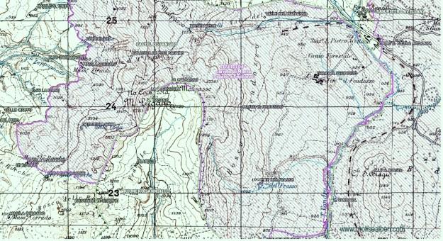 Cartografia del complesso di Feudozzo