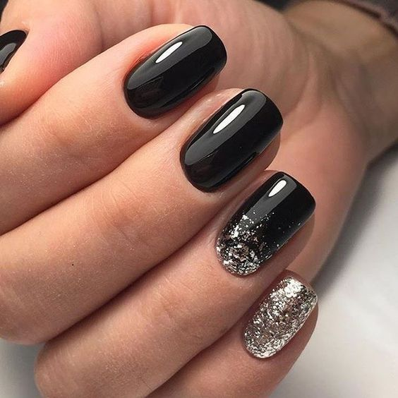 Elegant Black And White Short Nails Design Ideas Exceptional Look