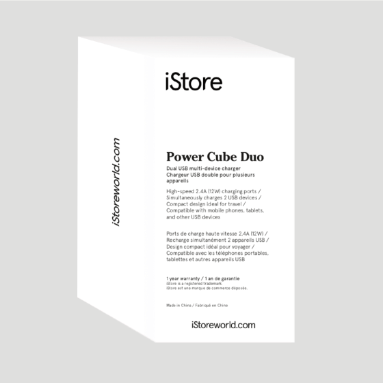 iStore Power Cube Duo Full Packaging Back