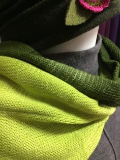 Schal, glatt rechts gestrickt aus Puno von Lang Yarns