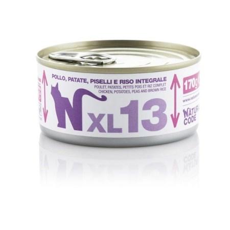 Natural Code XL13 Pollo, Patate, Piselli e Riso Integrale• 170g