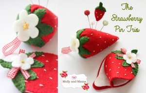 A Strawberry Inspired Pin Cushion Set