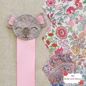 Sew a Felt Koala Bookmark