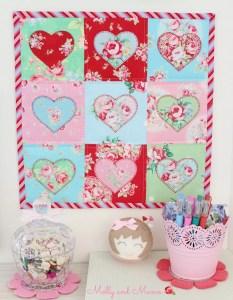 Make a Love Heart Mini Quilt