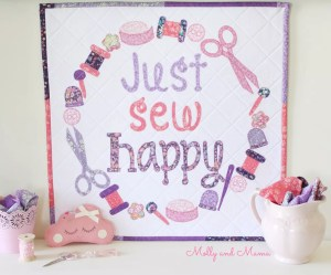 Just Sew Happy Mini Quilt from Tied with a Ribbon