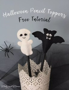 Halloween Felt Pencil Toppers Tutorial