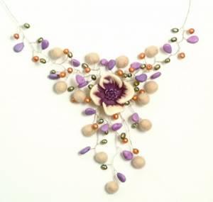 Purple Flower Necklace 2 2