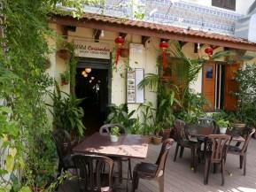 WIld Coriander Restaurant outside, dining in Melaka, Malaysia
