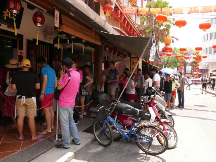 Chicken Rice Balls Line, Jonker Street, Melaka, Malaysia (Malacca)
