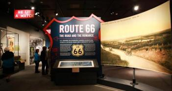 """Installation view """"Route 66: The Road and the Romance"""""""
