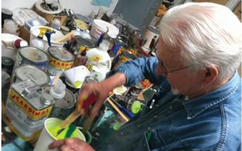 Jack Brogan in his studio