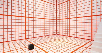 """Orange Grid,"" 2013, Channa Horwitz"
