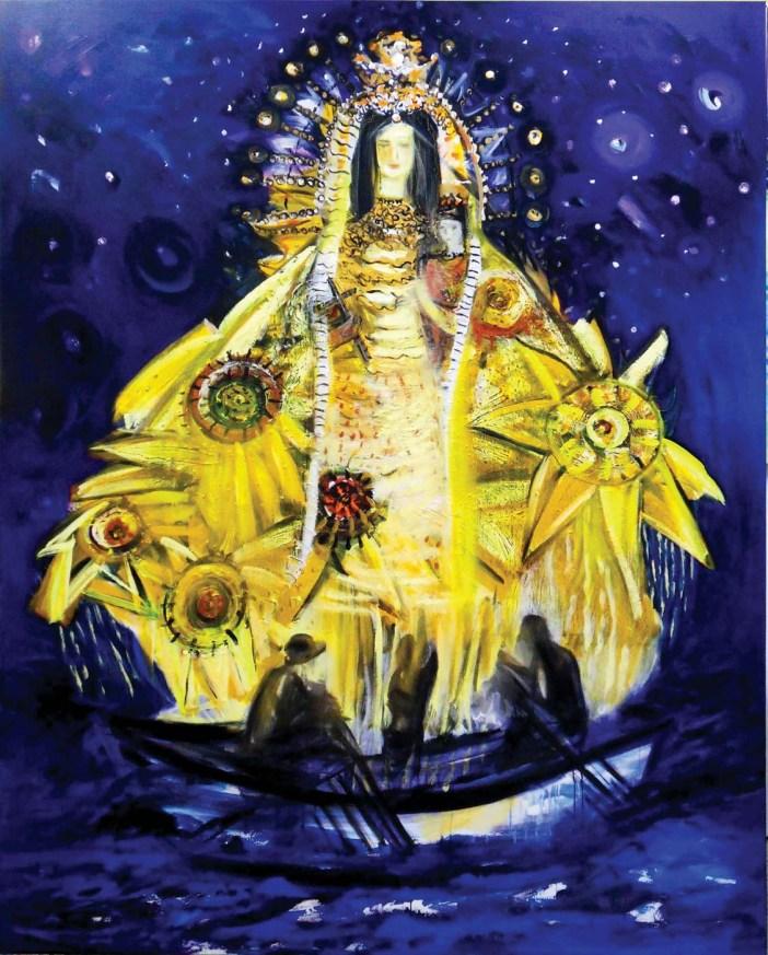 "Flora Fong, ""Virgen de la Caridad,"" 2014, Oil on canvas"