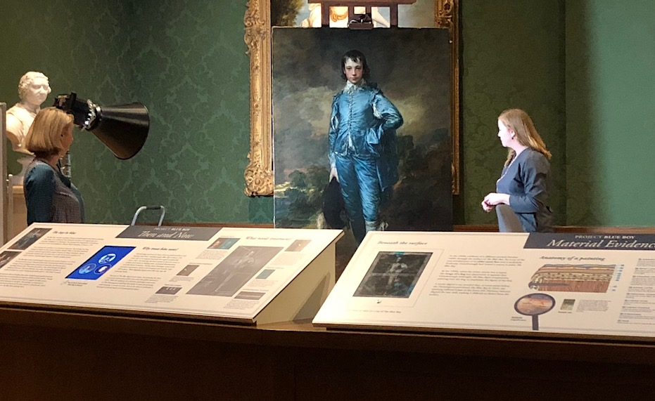 Chief curator of European art, Catherine Hess and Christina O'Connell, Senior Paintings Conservator discuss the restoration of The Blue Boy