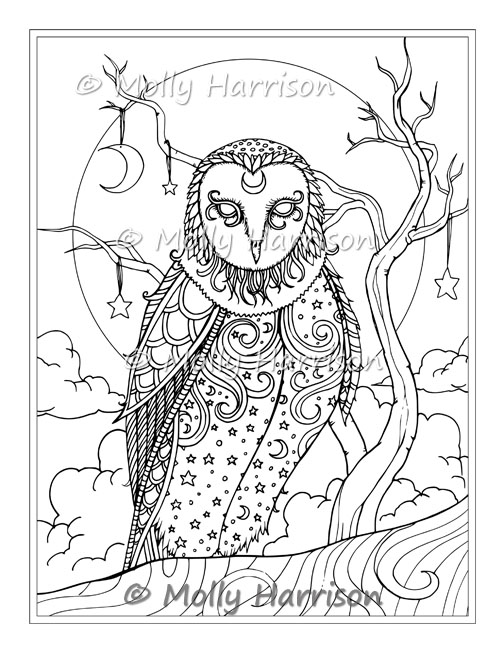 Animal Coloring Pages By Molly Harrison Fantasy Art The