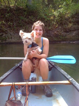 Molly and Peanut Canoe