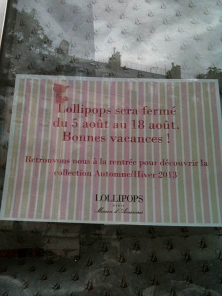 August in Paris-Lollipop