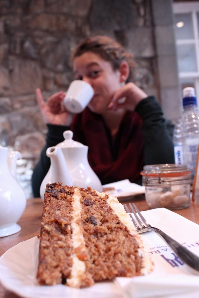 Carrot Cake Edinburgh Castle