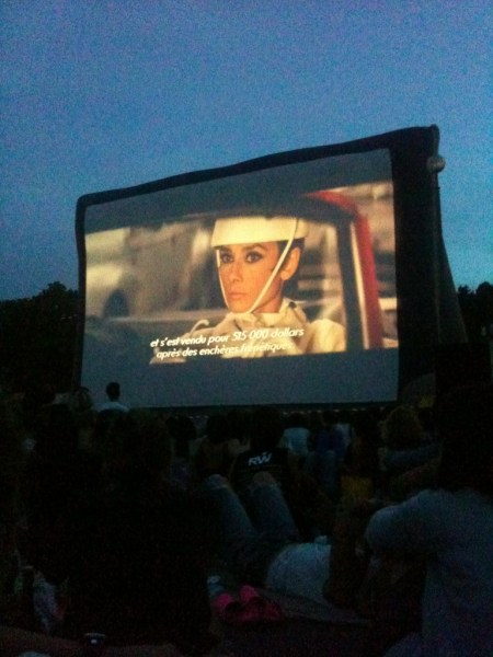 Open Air Cinema - Paris Audrey Hepburn