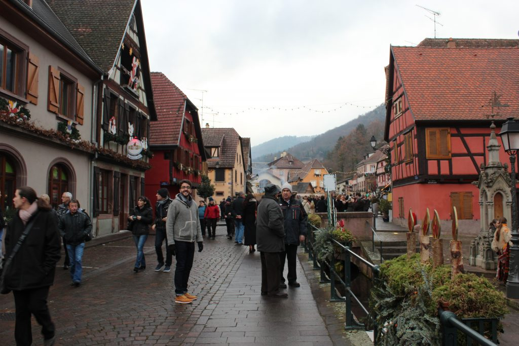 Christmas market in Ribeauville in Alsace