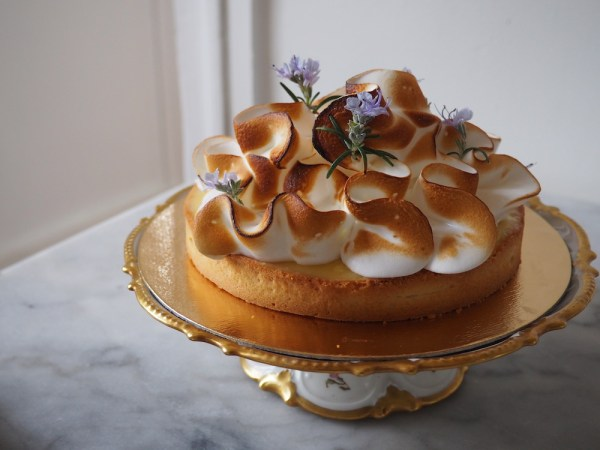 Lemon Tart with squiggle Italian Meringue