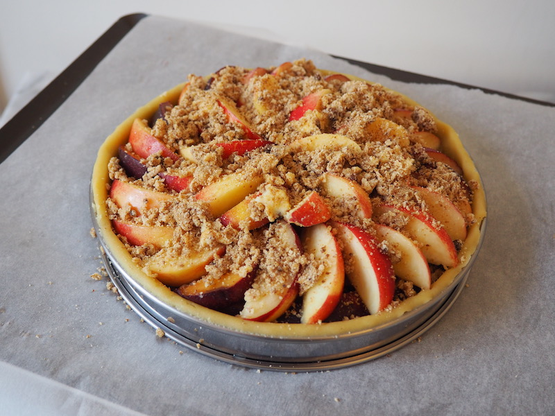 Ready to Bake Peach Crumble Tart