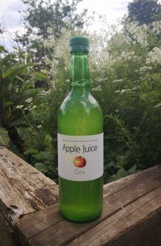 A bottle of Cox Apple Juice