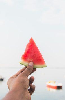 A watermelon slice