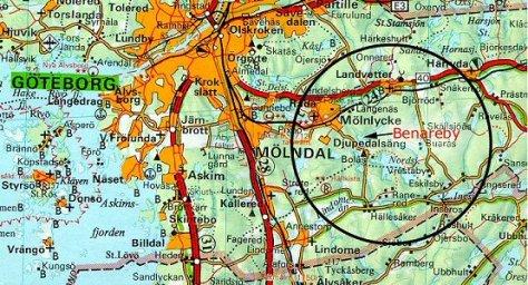 Karta över renavelsområde