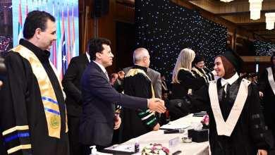 صورة وزير الرياضة يشهد تكريم الأكاديمية العربية لأبنائها الطلاب الحاصلين علي ميداليات في دورة الألعاب الأولمبية بطوكيو