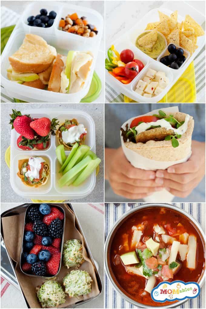 8 vegetarian school lunch ideas