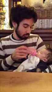 prematuurpapa Nathan en Sophia