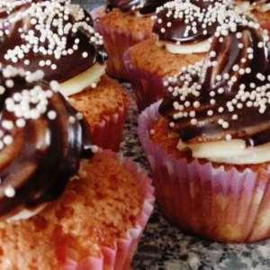 Cupcakes met frosting zonder pakjes