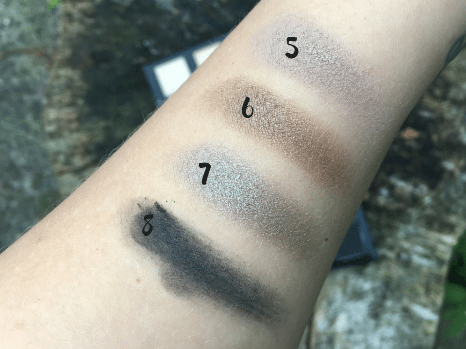 Down to Earth Eye Palette swatches
