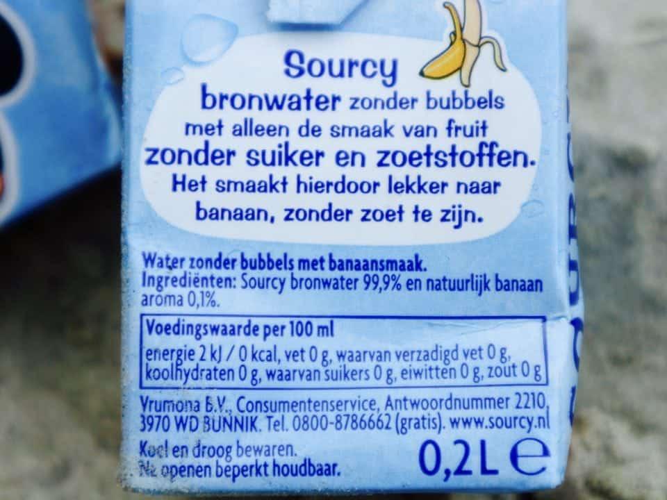 Wisseltruc Weken Sourcy fruitwater suiker