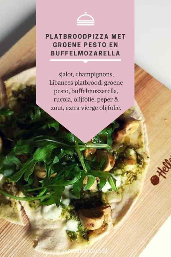Recept | Platbroodpizza met groene pesto momambition.nl hellofresh