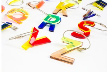 ABC recycled key chains