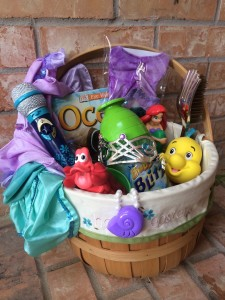 Ariel Themed Easter Basket