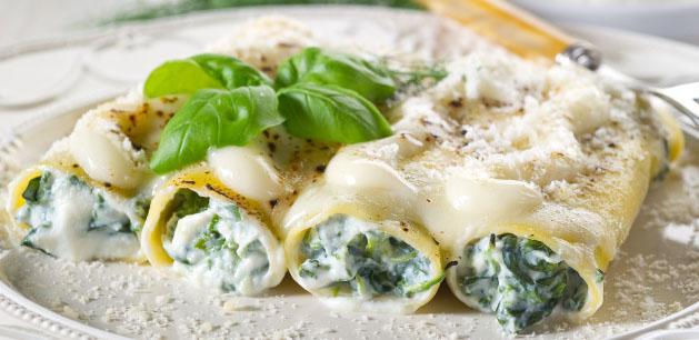 Cannelloni ricotta e spinici home made