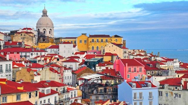Lisbona veduta panoramica