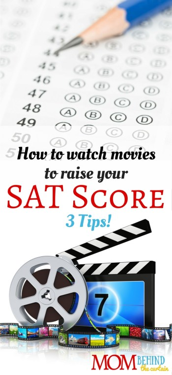 Forget boring vocabulary lists and flashcards! SAT study hack - 3 tips for watching movies to raise your College Board SAT score. (You might even enjoy it!)