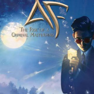 Cover of Artemis Fowl from best books for boys - science fiction boy, holding something glowing in front of glowing moon