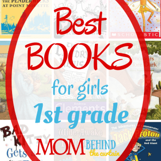 collage of best books for girls book covers - 1st grade
