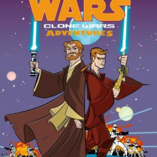 Cover of Clone Wars books - 2 Jedi with light sabers
