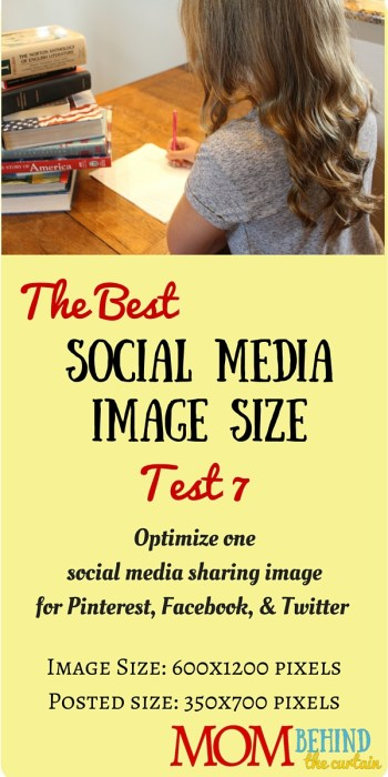 Test 7 of trying to find the best social media image size, a single image that will work for social sharing images on Facebook, Twitter, and Pinterest.