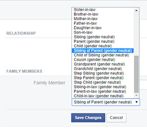 Facebook gender-neutral