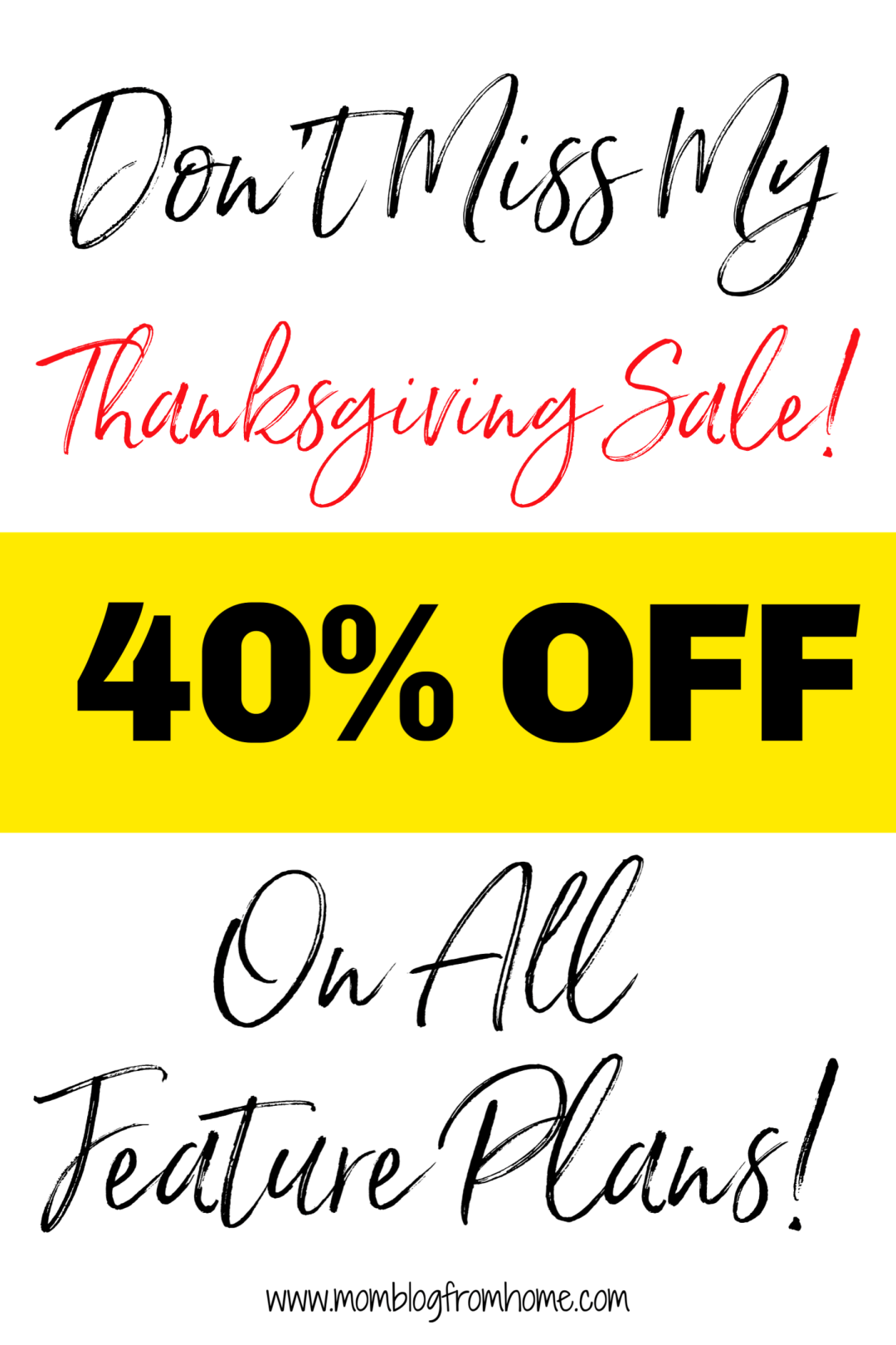 Thanksgiving Black Friday Sale 2018 - mom blog from home
