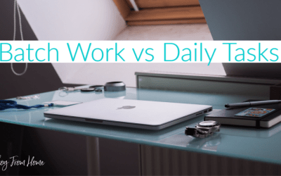 Batch Work vs Daily Tasks
